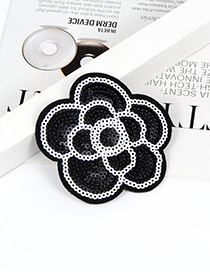 Fashion Black Flower Shape Decorated Simple Brooch