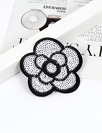 Fashion White Flower Shape Decorated Simple Brooch