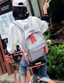 Fashion Gray Bowknot Decorated Backpack