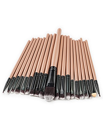 Fashion Beige Pure Color Decorated Makeup Brush ( 20 Pcs )