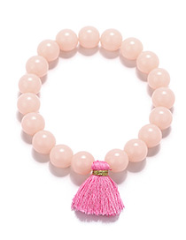 Fashion Pink Tassel Decorated Bracelet