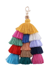 Fashion Multi-color Tassel Decorated Umbrella Shape Key Chain