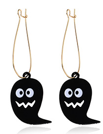 Fashion Black Ghosts Pendant Decorated Long Earrings