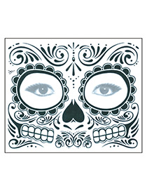 Fashion Black Eye Pattern Decorated Cosmetic Stickers