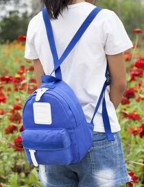 Lovely Blue Pure Color Decorated Children Backpack