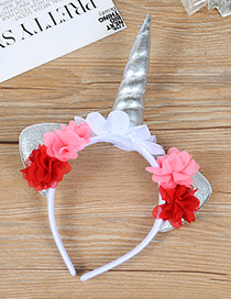 Trendy Silver Color Unicorn Shape Decorated Hair Hoop