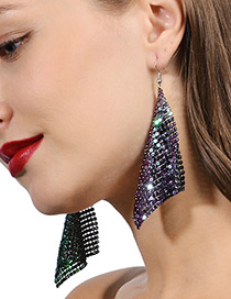 Trendy Multi-color Sequins Decorated Square Shape Earrings