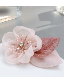 Fashion Pink Flower Shape Decorated Simple Hairpin