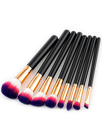 Fashion Purple Color-matching Decorated Brushes (8pcs)