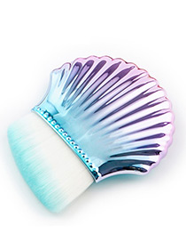 Fashion Light Blue Shell Shape Decorated Brush (1pcs)