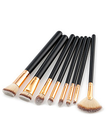 Fashion Gray Color-matching Decorated Brushes (8pcs)