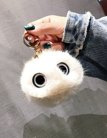 Cute White Eyes Decorated Key Chain