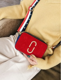 Fashion Red Round Shape Decorated Square Shape Bag