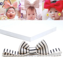 Lovely White+black Color-matching Decorated Baby Hair Band