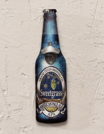 Fashion Blue Beer Bottle Pattern Decorated Ornament