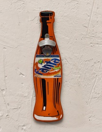 Fashion Orange Beer Bottle Pattern Decorated Ornament