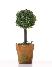 Lovely Green Artificial Little Tree Decorated Ornaments