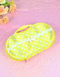 Fashion Yellow Dot Shape Decorated Buggy Bag