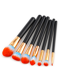 Fashion Orange Color-macthing Decorated Brushes
