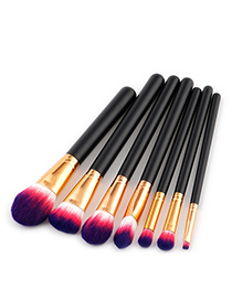 Fashion Purple+red Color-macthing Decorated Brushes