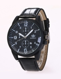 Fashion Black Color-matching Decorated Watch