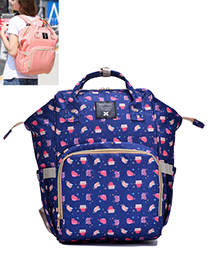 Fashion Multi-color Cat Pattern Decorated Backpack