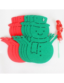 Fashion Red+green Snowman Shape Decorated Christmas Ornaments(8pcs)