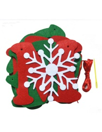 Fashion Red+green Letter Pattern&snowflake Decorated Christmas Ornaments(8pcs)