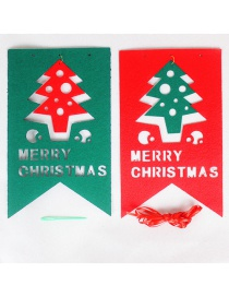 Fashion Red+green Christmas Tree Shape Decorated Ornaments(8pcs)