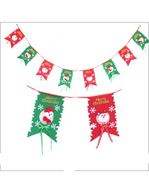 Fashion Red+green Snowman Pattern Decorated Christmas Ornaments(8pcs)