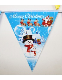 Fashion Blue Snowman Pattern Decorated Christmas Ornaments(10pcs)