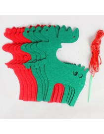 Fashion Red+green Deer Shape Decorated Christmas Ornaments(8pcs)