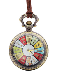 Fashion Antique Color Watch Shape Decorated Necklace