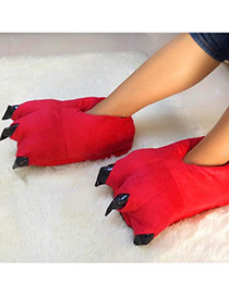 Fashion Red Pure Color Decorated Shoes