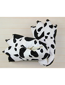 Fashion Black+white Cows Pattern Decorated Shoes
