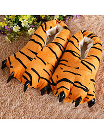 Fashion Black+yellow Tiger Pattern  Decorated Shoes