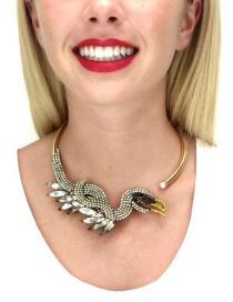 Fashion Gold Color Bird Shape Decorated Simple Choker