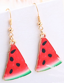 Fashion Red Watermelon Shape Decorated Earrings