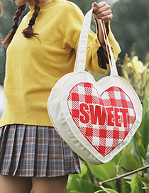Sweet White Heart Shape Design Shoulder Bag