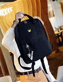Lovely Black Small Shoes Decorated Simple Backpack