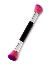 Fashion Pink+purple Oblique Shape Decorated Makeup Brush(1pc)