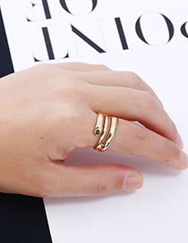Fashion Gold Color Pure Color Decorated Simple Ring