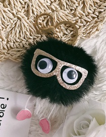 Fashion Black Glasses&fuzzy Ball Decorated Ornaments