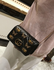 Fashion Black Insect Pattern Decorated Shoulder Bag