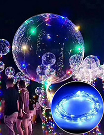 Trendy Blue Ball Shape Design Led Light Balloon(without Battery)