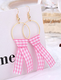 Fashion Pink Color-matching Decorated Earrings
