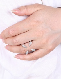 Fashion Silver Color Pure Color Decorated Opeing Ring