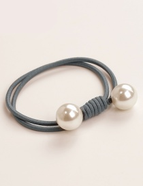 Elegant Gray Double Round Decorated Hair Band