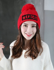 Fashion Red Letter Shape Decorated Cap