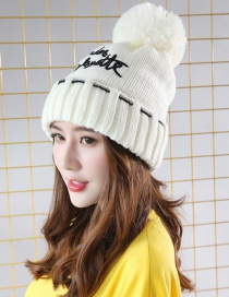 Fashion White Letter Shape Decorated Cap